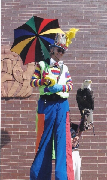 Many thanks to  HawkQuest.org  for this photo of Stretch with bald eagle.