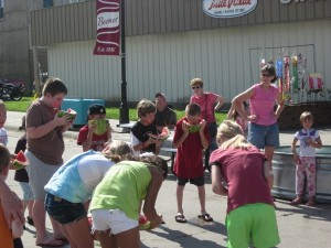 Watermelon eating contest, YUMM!