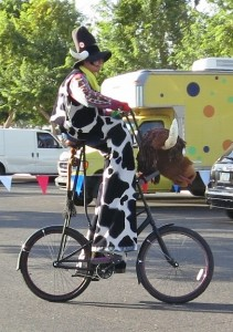Stretch on his trusty steed Meals on Wheels!