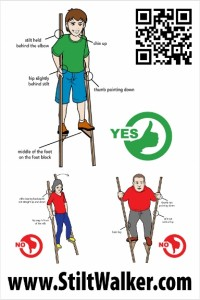 How to walk on stilts poster