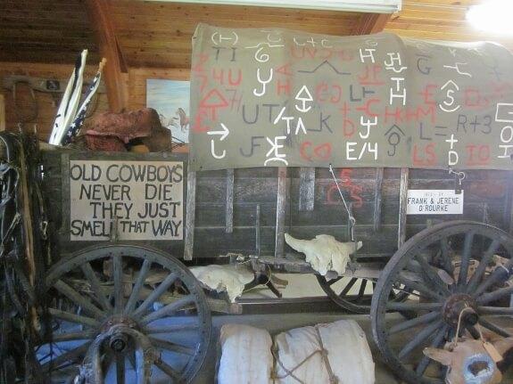Inside the Cowboy Museum in Gordon, NE