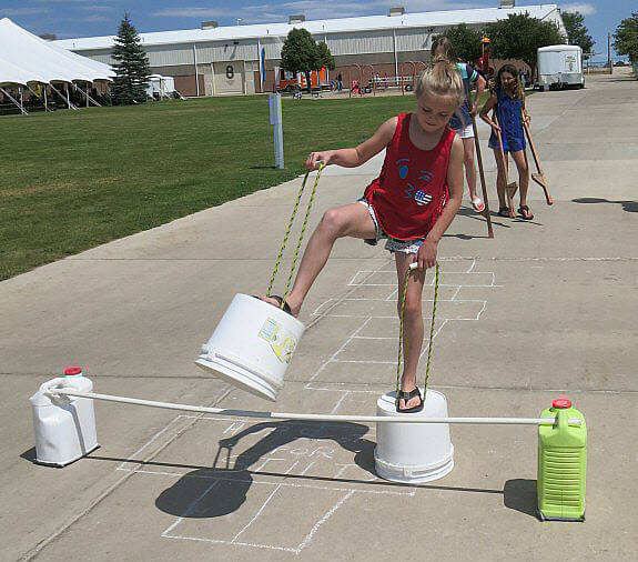 Stilt Hopscotch