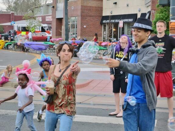 Pop'n bubbles at the Denver Five Points Jazz Festival
