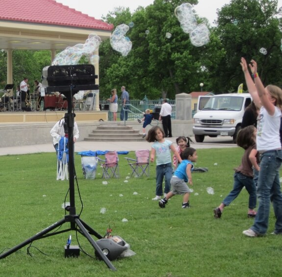 Ice Cream Social at City Park - come chase the bubbles!