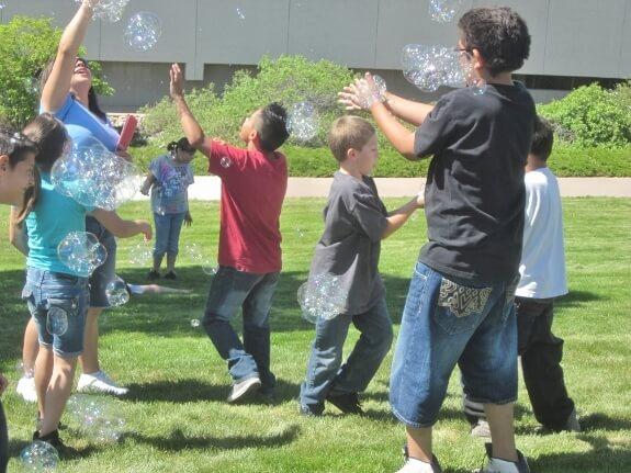 Bubbles at a school function in Pueblo, CO