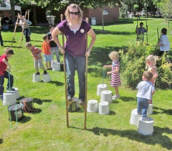Stilt Party at the Willow Tree Festival in Gordon, NE