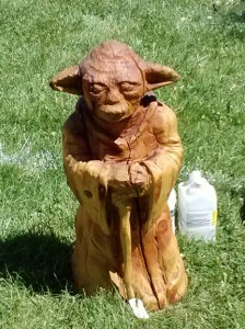 Yoda at Whittle the Wood festival in Craig, CO