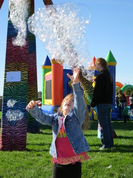 Bubbles are a popular prey at the ARTsarben urban savanna, capturing the interest of young and old alike.  Ephemeral in nature, they provide little physical sustenance or satiety, but rather feed the soul.