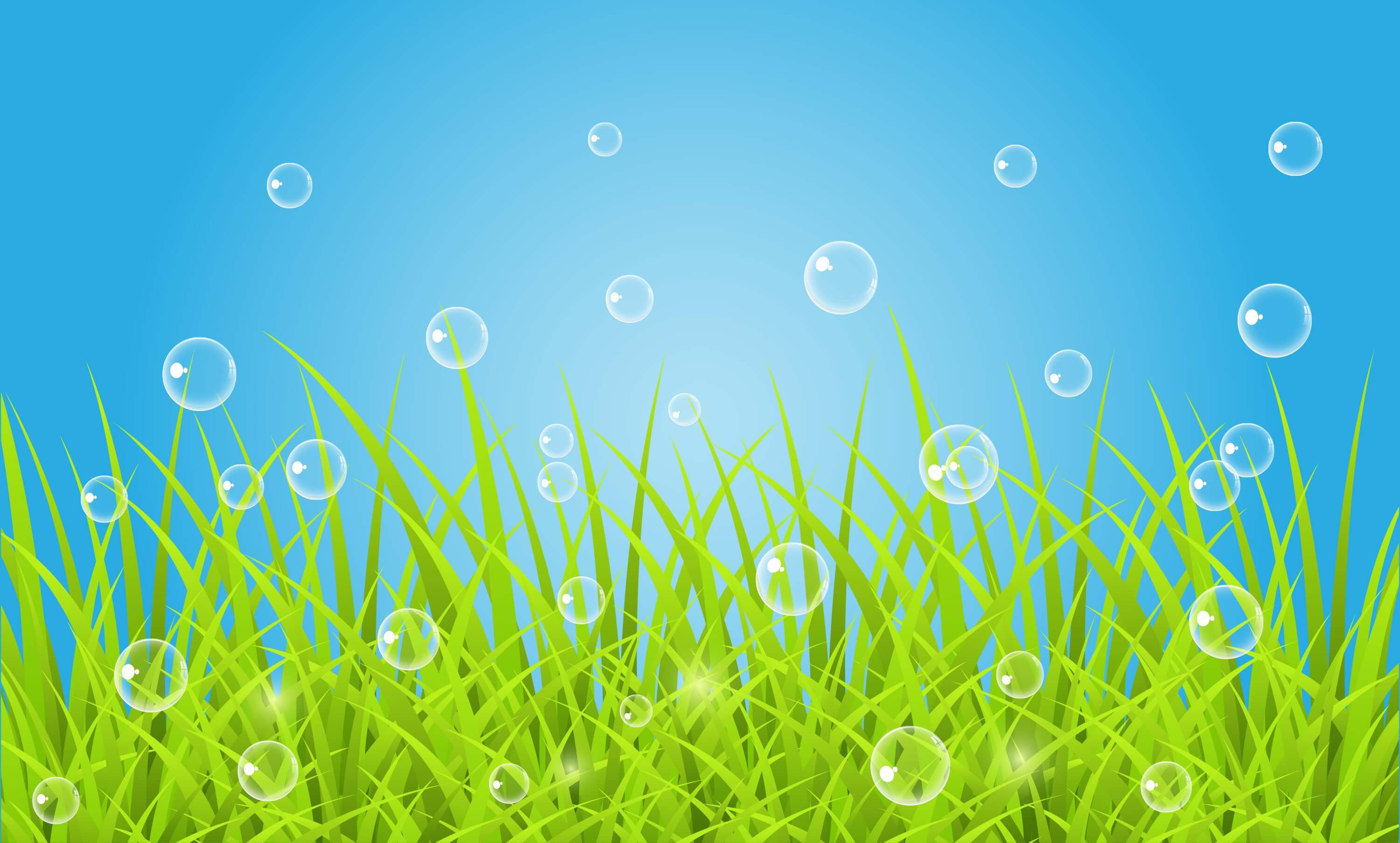Bubbles above the Grass