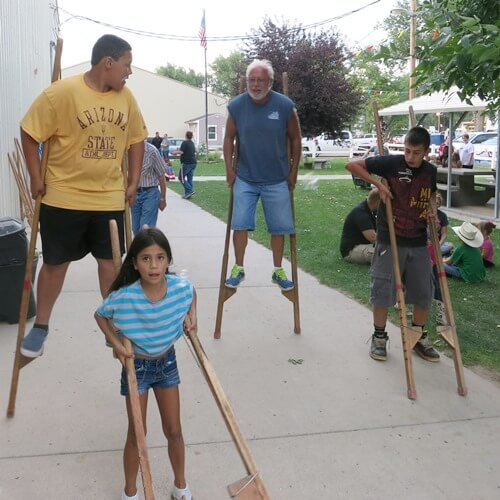 Pop and the grandkids go for a stroll.jpg