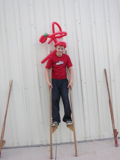 Preparing for liftoff! Fun hat by Dave Wonder.