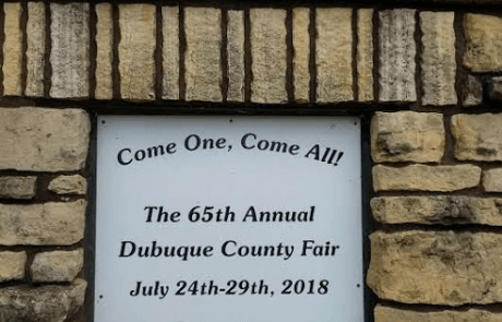 Dubuque County Fair entrance 2018