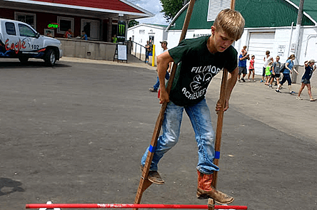Learning to Stilt Walk at the Dubuque County Fair 2018